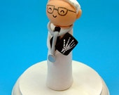 Doctor Custom Figure Cake Topper - ANY PROFESSION Customized Personalized - Handmade by The Happy Acorn