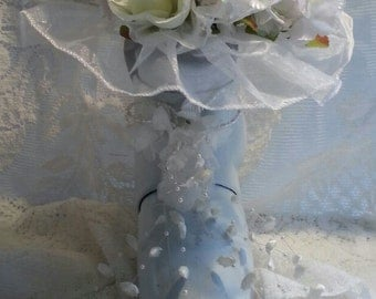 3 Ski Boot Wedding Bouquets Made in Vermont and handcrafted out of a Recycle Ski Boot makes a great ski gift for skiers