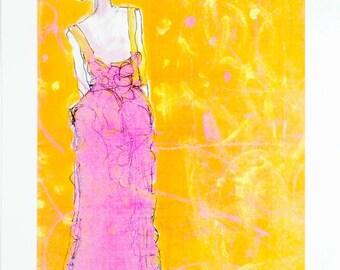 Embrace Change Print, Fashion Illustration,Fashion Art