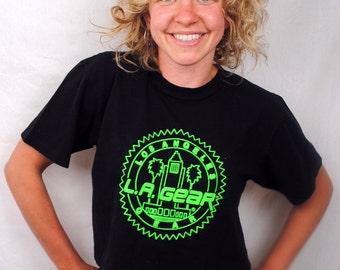 Vintage 80s LA Gear Cropped Neon Tee Shirt Top