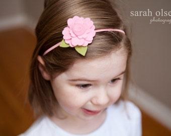 Pink Daisy Felt Flower headband