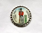 3 Vintage 1960s Enameled Silver Metal Historic Fort York Charms // Souvenir of Canada // Toronto