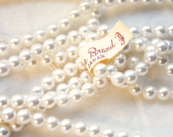 1 Vintage 1960s 30 Inch Pearl Strands // Made in Japan // Flapper Necklace