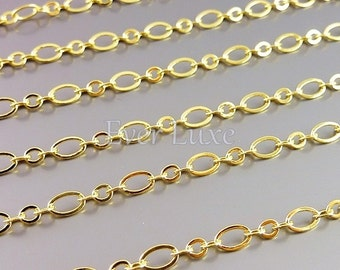 1 meter unique big and small oval link chains, designer style chains, necklace chains, jewelry / craft supplies B086-BG