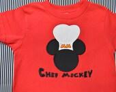 Chef Mickey T-shirt Personalized (kids)