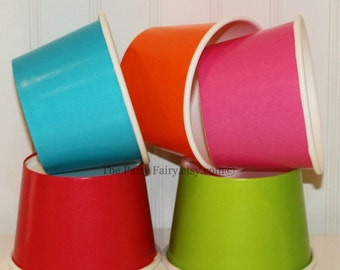Paper Ice Cream Cups, 20 Ice Cream Cups ( 8 Oz. ) Paper Cups, Ice Cream Cups, Yogurt Cups, Soup Chili Cups, Dessert Cups, Party Food Cups