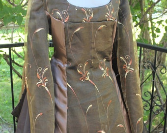 """SALE Bust 44"""" Igraine of the Forest  Tudor Dress Renaissance Game of Thrones Gown Medieval"""
