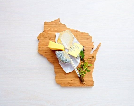 Wisconsin State Cutting Board,Father's Day Gift,   Unique Wedding Gift, Personalized Gift, Summer Wedding GIft, Graduation Gift