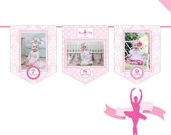 INSTANT DOWNLOAD Ballet Party - DIY printable photo banner kit