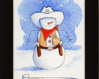 Go Ahead...Melt My Day! Snowman Print.  Recognize Clint, anyone?