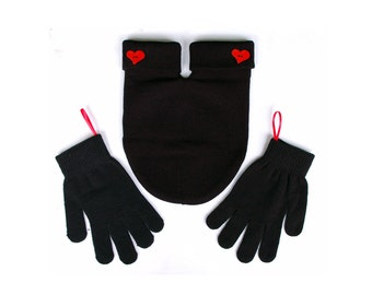 Red Heart SMITTEN (for holding hands when its cold outside) GLoves and Smitten Card Included. Share your mitten! FREE Shipping USA