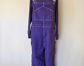 CUSTOM DYED Bib Overall Pants - Red Violet Orange Blue Green Dyed Adult Youth Overalls - Waist 30, 32, 34, 36, 38, 40, 42, 44, 46, 48, 50