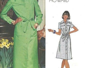 Vintage Designer Sewing Pattern / Vogue Americana 1072 / By Chuck Howard / Dress / Size 10