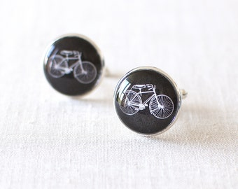Bicycle Cufflinks. Bike Cuff Links. Cufflinks for Men. Bicyclist Gift. Cyclist Cufflinks. Sport Cufflinks. Tour de France. Wedding Cufflinks