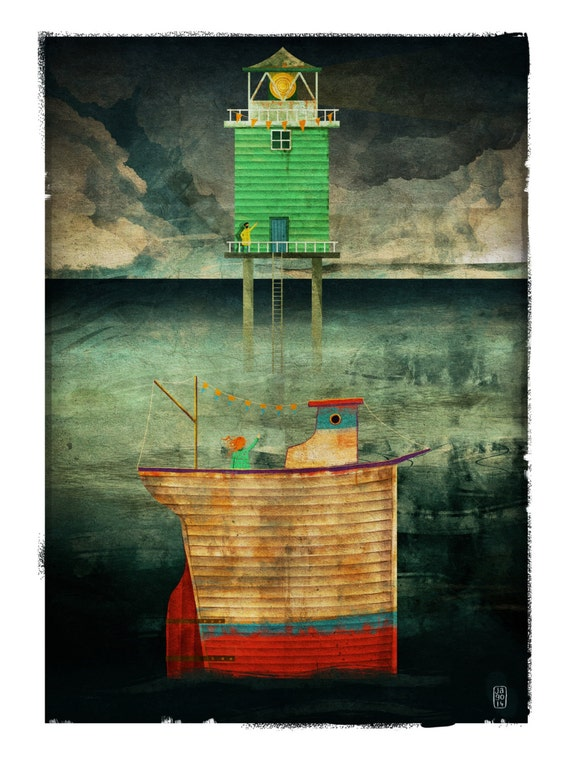Bon Voyage - Signed Print from The Cruel and Curious Sea II exhibition