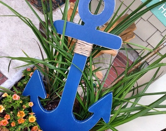 Shabby Chic Handmade wooden Anchor13-36 inch wooden anchor Nautical Home Decor Choose from any of these sizes