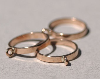 Copper Handmade Ring with 1 Loop 100% Copper Handmade - Size 8