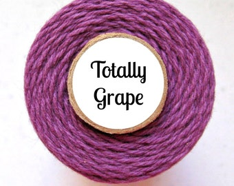 Solid Purple Bakers Twine by Trendy Twine -Totally Grape