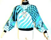 EMILIO PUCCI Vintage Sweater Top Dolman Banded Cuff Blouse - AUTHENTIC -