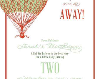 Up Up and Away - Birthday Invitation Only