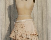 Boho Lace Wrap Skirt Rustic Upcycled Recycled Repurposed Clothing