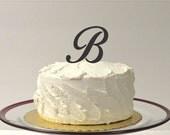 LETTER B - Personalized Monogram Wedding Cake Topper - Monogram Letter Cake Topper - Simple Beautiful MONOGRAM Wedding Cake Topper
