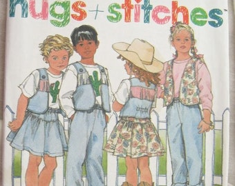Simplicity 9794 Childs Western Set Pants Skirt Vest and Top Vintage Sewing Pattern