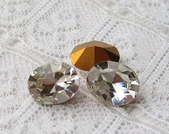 10x8 Preciosa Clear Glass Oval Loose Rhinestones