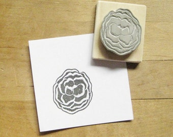 Poppy Hand Carved Rubber Stamp