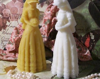 Beeswax Bride Victorian Bride Candle Choice Of Color