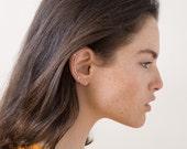 SALE Gold Ear Cuff. Minimal Ear Cuff. Gemstone