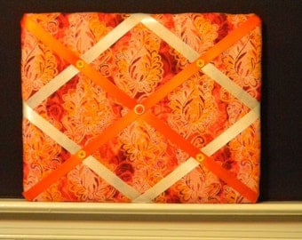 11 x  14 Red and Orange Scroll Memory Board