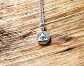 Sterling Silver All Seeing Eye Necklace