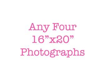 16x20 prints, set of 4 photos, discounted set, large wall art, gallery wall set, 16x20 photographs, wall art set of 4, wall decor, large art