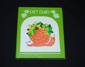 Vintage 1960's Diet Diary - Mod Orange Snail Motif - Blank - Never Used