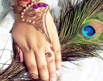 BESPOKE Paarijaat /// Slave Bracelet by Jhumki Luxe - designs by raindrops