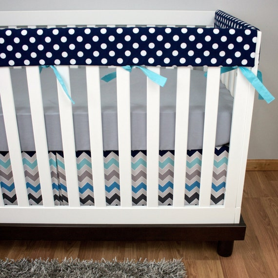 Rail Guard Baby Bedding Bumperless Crib Set Royal By