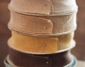 10 yard roll of wired burlap ribbon - pick your color