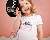 Police Officers Princess Embroidered Shirt, Daddys Girl, Mommys Girl, Police Daughter Shirt, Policeman Princess Bow, Law Enforcement Bow