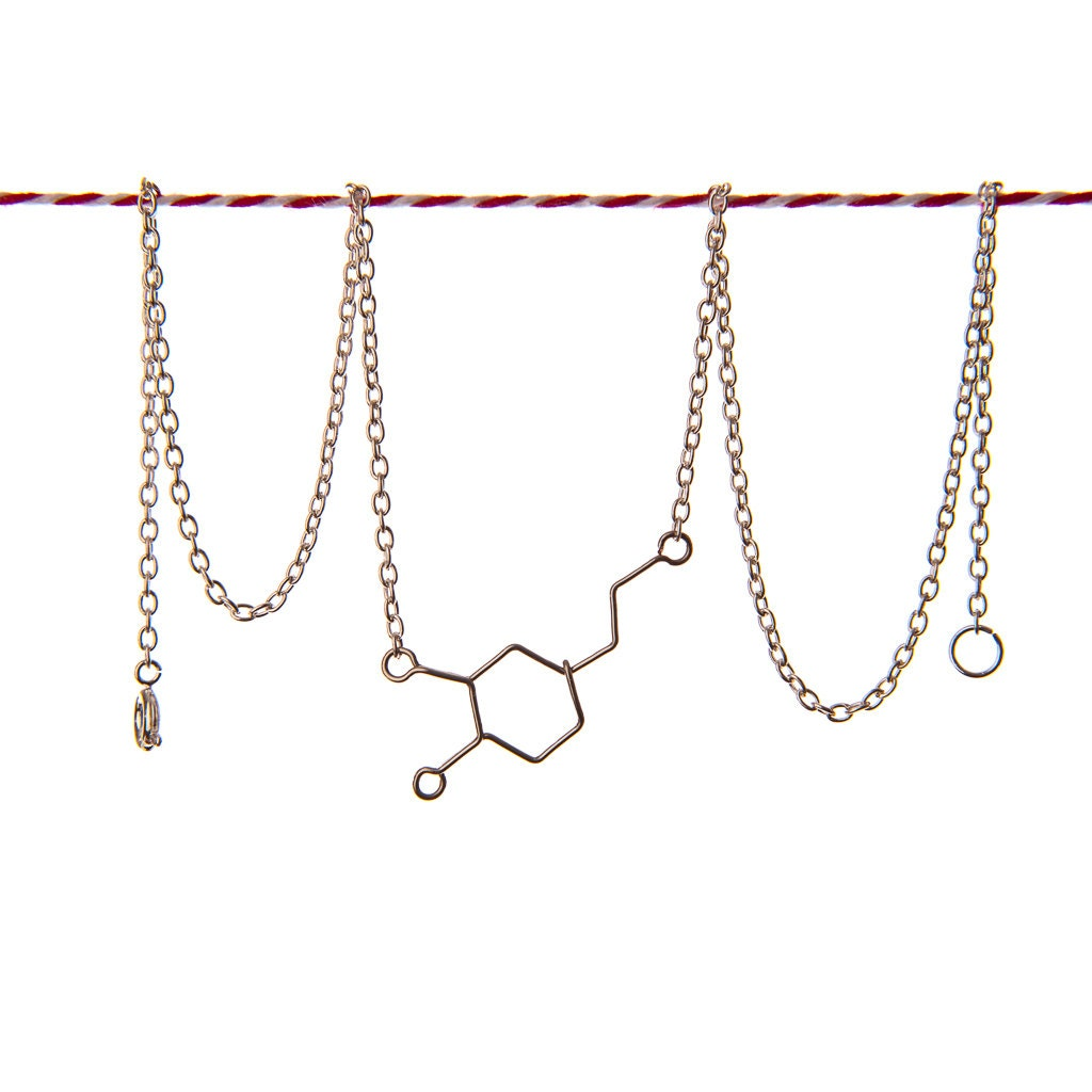 Dopamine Molecule Necklace