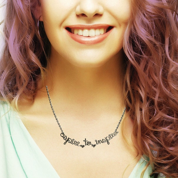 Aspire to Inspire Necklace - Motivational Jewelry
