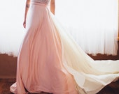 Chiffon Tie-On Detachable Train w/ attached Sash- Choose your fabrics- Add to your Wedding Gown