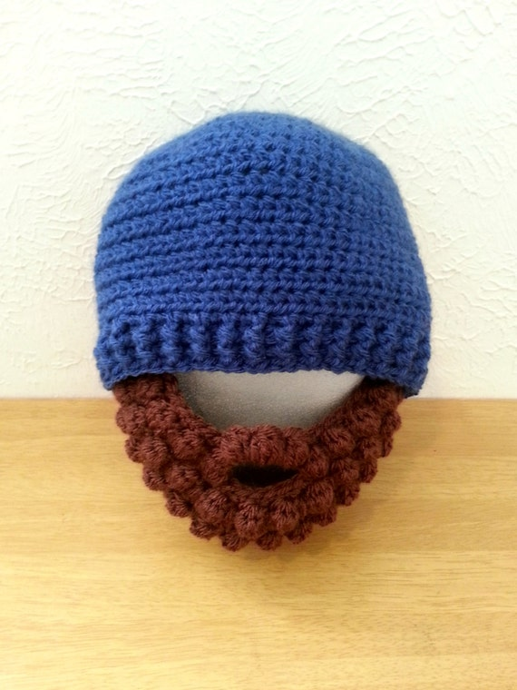 Crochet Beard Hat for Babies to Adult- Customized Beanie Hat with Beard - Lumberjack Hat
