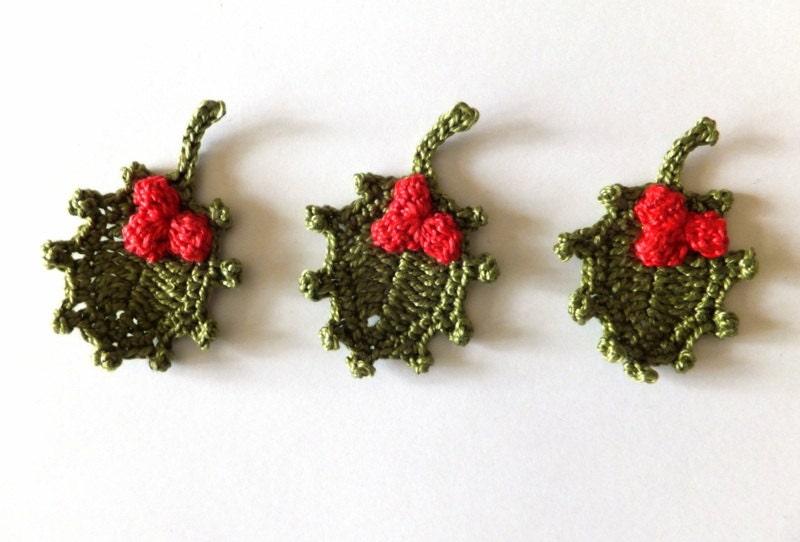 Leaves Pattern Crochet Crochet Holly Leaves