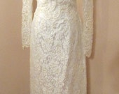 Stunning Vintage Sequin Beaded Lace Wedding Dress