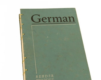 1960 GERMAN Vintage Notebook Journal Sketchbook