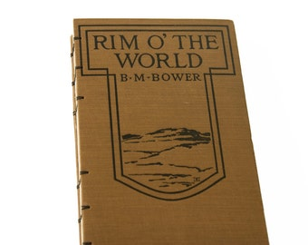 1919 RIM O' the WORLD Vintage Lined Travel Journal Notebook