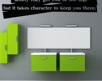 Vinyl Wall Art Decal Sticker Ability Charcter Quote 5189s