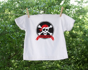 Personalized Pirate Birthday Captain Shirt  TW