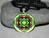 Butterfly Pendant Necklace Boho Chic Mandala New Age Sacred Geometry Hippie Kaleidoscope On a Wing and a Prayer
